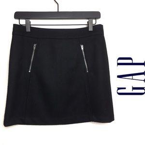 GAP black wool skirt
